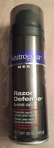 Neutrogena Men Razor Defense Shave Gel for Sensitive Skin 7 oz RARE