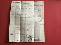 Hurst Nelson and Co Rolling Stock Plant Works  1894 Glasgow receipt R33403