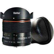 Vivitar 8mm Fisheye Lens for Canon + Vivitar 8MM Hard Shell Lens Case
