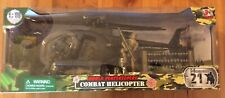 World Peacekeepers Combat Helicopter W/ Pilot And Soldier Included 1:18 Scale