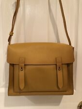 NWT  Abercrombie and Fitch Yellow Leather Satchel Crossbody Purse Bag $98
