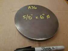 Steel Plate Round Disc 6 Diameter X 58 Thick A36 Lathe Stock