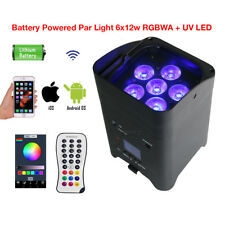 Par Light Wash 6x12w RGBWA UV 6in1 LED Battery Powered Wireless IOS Android Apps