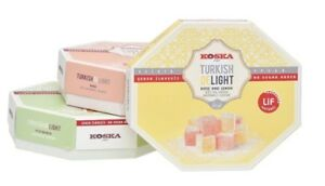 160g NO ADDED SUGAR Pistachio Rose Lemon Turkish Delight Diet Soft Chewy Candy