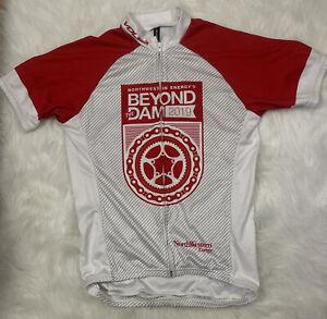 womens VOLER cycling jersey medium beyond the dam 2018 short sleeve red