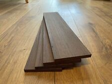 Wenge Timber Offcuts 4 Pieces @ 450mm x 100mm x 10mm (African)