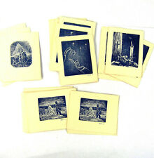 Vintage Swedish Block Print Christmas Greeting Cards BMG Lot of 30 Mid-Century