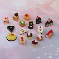 16pcs Miniature Kitchen Food Resin Cream Cake Model for 1/12 Scale Dolls House