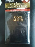New 60 Pocket Coin Album Holder 2x2 Whitman Book Storage Folder
