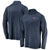 Men's New England Patriots NFL Team Apparel Raglan Quarter-Zip Pullover