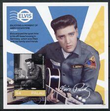 Palau 2015 Gomma integra, non linguellato Elvis Presley la sua vita in francobolli 1 V S/S I Esercito Celebrità Music