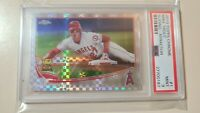 2013 Topps Chrome X-Fractor Refractor Mike Trout #1 graded PSA 9 Mint