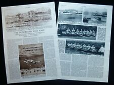 OXFORD v CAMBRIDGE 100th UNIVERSITY BOAT RACE ROWING 2pp PHOTO ARTICLE 1954