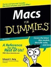 Macs For Dummies, Edward C. Baig, Good Condition, Book