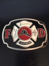 Firefighter Belt Buckle Fine Pewter Buckle Bakery Numbered Enameled