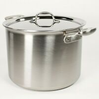 All-Clad TK 12 Qt Stockpot with Lid - Brushed Stainless Steel Tri-Ply Soup Pot