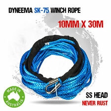 Dyneema SK75 Synthetic Winch Rope, Cable 10mm x 30m, 12000lbs, Replacement