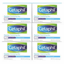 Cetaphil Gentle Cleansing Face & Body Moisturizing Soap Bar 6-pack 4.5oz. ea