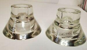 2 Ikea Dual Purpose Clear Glass Candle Holder Design K Hagberg M Hagberg