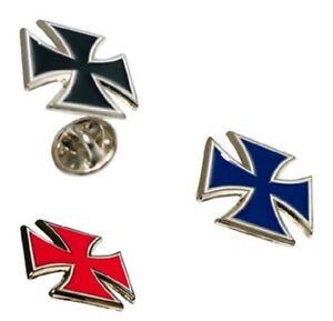 Maltese Cross, Knight Templar, Masonic, Cufflinks / Lapel Pin Badges JKB50-77-9