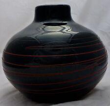 Mid Century Japanese Kamei Art Glass Vase Signed