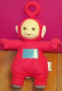"""Teletubbies Plush Red PO~  Talking ~15"""" Tall to Top of Antenna ~ 1998 SMALL HOLE"""