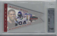 RANDY MOSS 1998 PLAYOFF CONTENDERS FOOTBALL PENNANTS RED FOIL #55 BGS 9