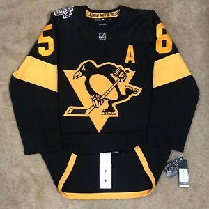 Adidas Kris Letang Pittsburgh Penguins 2019 Stadium Series NHL Hockey Jersey 52