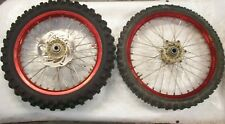 USED 03 04 05 KTM SX125 SX 125 RED EXCEL FRONT & REAR WHEELS RIMS & HUBS