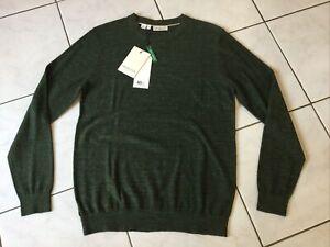 Pull SELECTED/Homme taille M/L vert kaki neuf