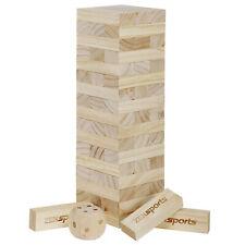 54 Pcs Giant Wooden Backyard Game Toppling Tumble Tower Lawn Games Game Bag