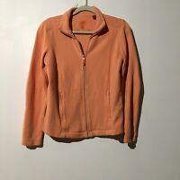 TOMMY BAHAMA Women's Light Orange Zip Up Sweat Shirt With Pockets Size Small/P