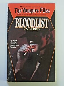 The Vampire Files BLOODLIST By P.N. Elrod 1990 Ace Science Fiction Paperback 532