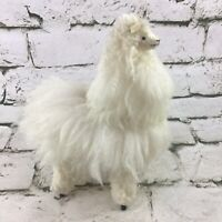 "Vintage 6.5"" Wooly Llama Plush Figure Decorative Collectible Stuffed Fuzzy Soft"