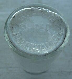 Rare Robinson's mini sample clear glass GOLDEN SHRED MARMALADE jar C 1910