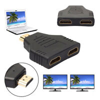 HDMI 1in2 Out 1080P HDMI Splitter Adapter Converter For PS4 DVD HDTV RDR