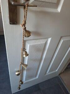Vintage String Of Hanging Brass Bells