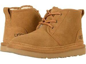 UGG Neumel II Lace Up Boots for kids Chestnut Black Red Suede 100% Original
