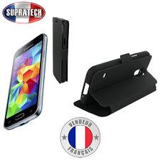 Etui Rabattable Noir Avec Support pour Samsung Galaxy S5 Mini G800