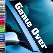 Auto Aufkleber Game Over Sticker  Frontscheibe Tuning Aufkleber 26 Farben F79