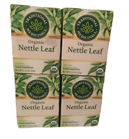 4-PACK Traditional Medicinals Tea Organic Nettle Leaf, 16 Count Boxes (64 Total)