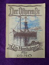 Der Ostpreuße, Ein Hauskalender für 1950, Rautenberg & Möckel in Leer