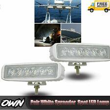 Pair White Spreader LED Deck/Marine Waterproof Light For Boat SPOT LAMPS 12V 24V