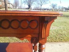 BEAUTIFUL EASTLAKE SPOON CARVED LAWYER / LIBRARY TABLE -- S. E. PAINE CO.