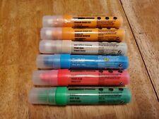 LOT 6 Liquitex Professional Paint Marker Neon Green Red Orange Titanium Some New