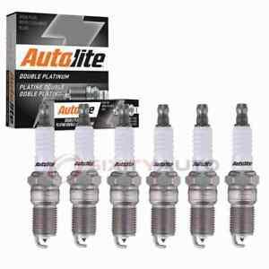 6 pc Autolite Double Platinum Spark Plugs for 2006-2010 Pontiac G6 3.5L 3.9L fv
