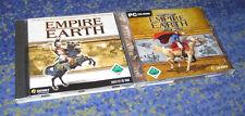 Empire Earth 2 y parte 1 PC versión alemana ambas partes en 1 subasta