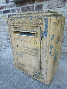 boite aux lettres ancienne  PTT LA POSTE 1954 réformée art populaire DEJOIE