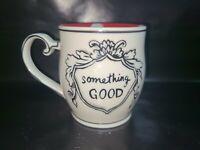 Anthropologie MOLLY Hatch SOMETHING GOOD Mug Red Polka Dot Handcrafted Signed