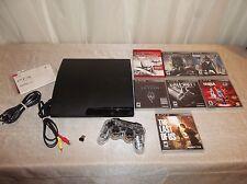 Sony PlayStation 3 Slim 160 GB Charcoal Black Console (CECH-2500A) BUNDLE
